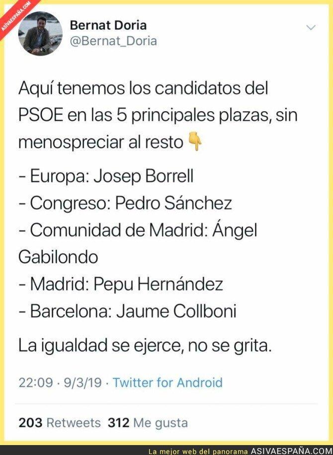 106380 - La igualdad del PSOE