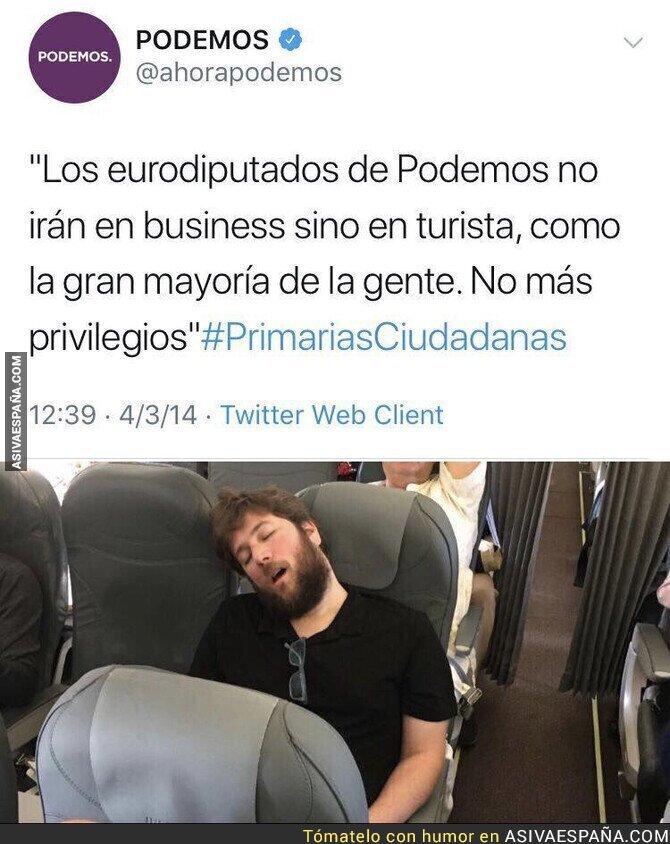 106703 - Podemos no cumple con su palabra y el abanderado del anticapitalismo viaja en business