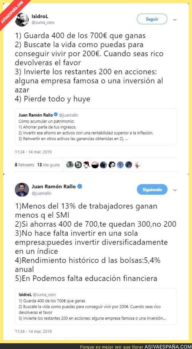 106707 - Juan Ramón Rallo dando clases para ahorrar dinero a uno de Podemos