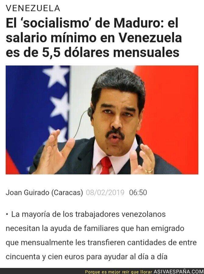 106792 - El paraíso socialista de Venezuela tiene un SMI de 5 dólares