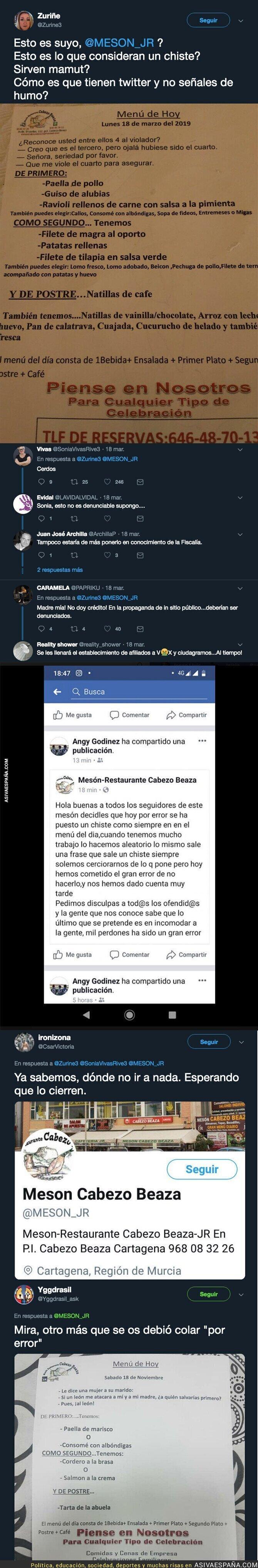 107017 - Los chistes de violaciones grupales encontrados en este mesón de Cartagena que están indignando a todo el mundo