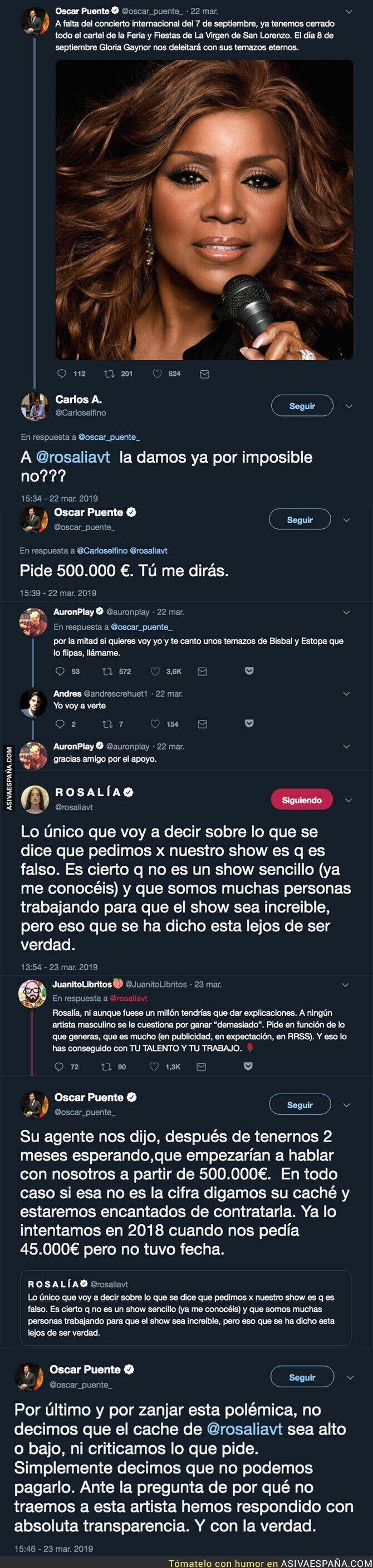107325 - Óscar Puente, el alcalde de Valladolid la lía máximo en Twitter desvelando el caché de Rosalía