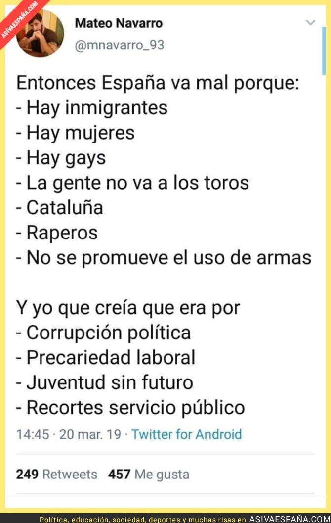 107333 - Los problemas reales en España
