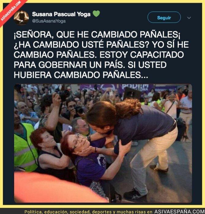 107345 - El nuevo Pablo Iglesias tras cambiar pañales