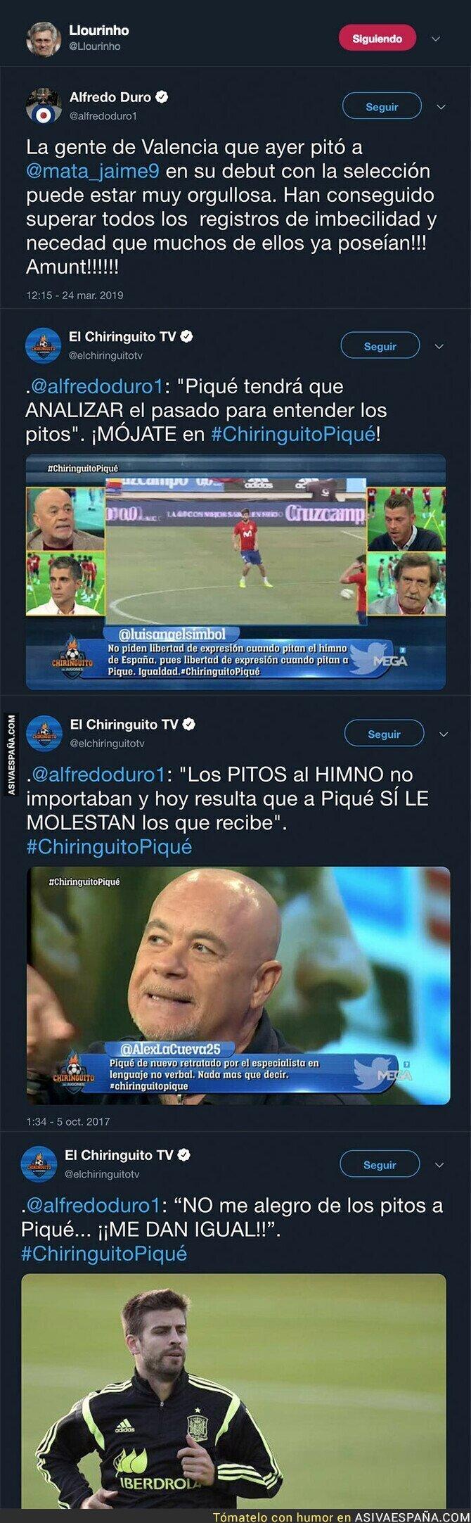 107358 - El doble rasero de Alfredo Duro a la hora de criticar cuando pitan a un jugador del Getafe con la selección y a Gerard Piqué