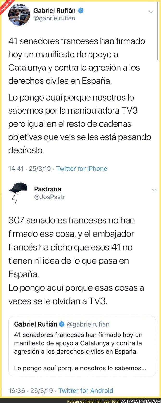 107410 - Los senadores franceses apoyando a Catalunya que no te cuenta Gabriel Rufián
