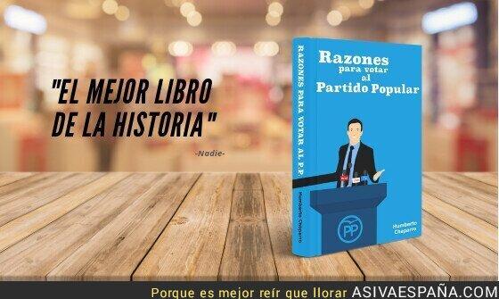 107434 - Razones Para Votar al Partido Popular (libro en blanco)
