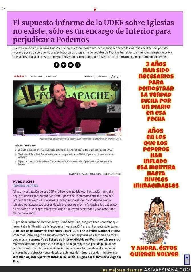 107653 - Tres años de mentiras del PP contra Podemos