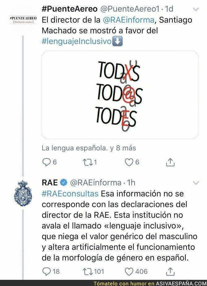 107691 - Atribuyen una frase al director de la RAE aceptando el lenguaje inclusivo y le desmiente con un gran ZAS