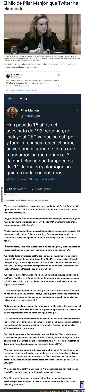 107899 - El hilo de Pilar Manjón que Twitter ha eliminado