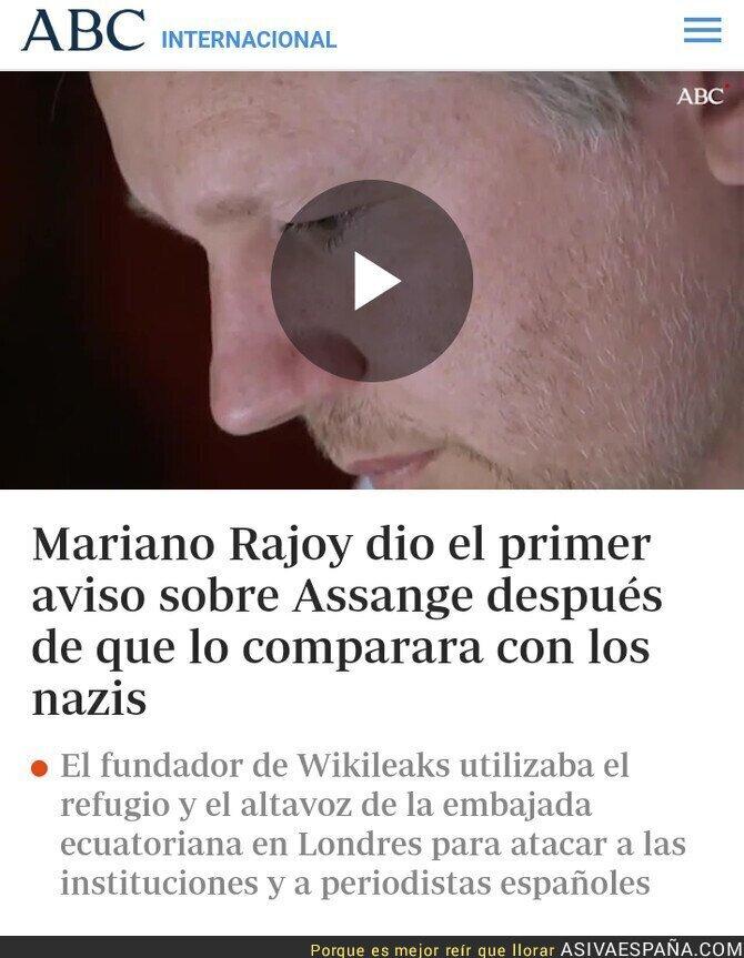 108835 - Rajoy sobre Assange