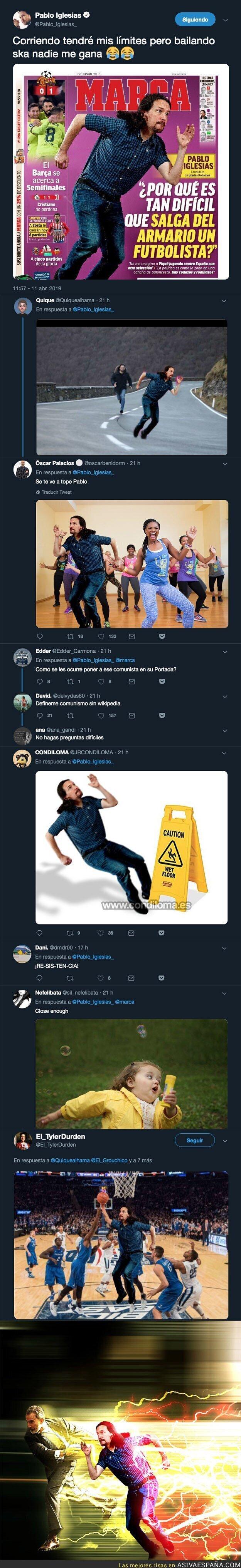 108883 - MARCA le dedica la portada a Pablo Iglesias y todo Twitter se encarga de responder con ingenio