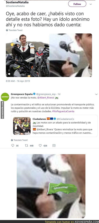 109450 - Greenpeace le da un gran revés a Ciudadanos tras decir que las motos son un aliado de la sostenibilidad