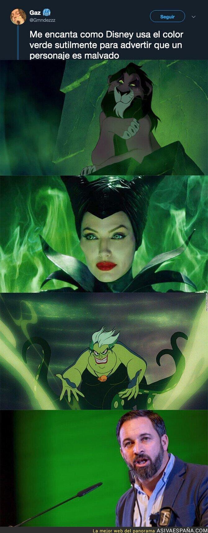 109529 - El color de Disney para identificar a los villanos