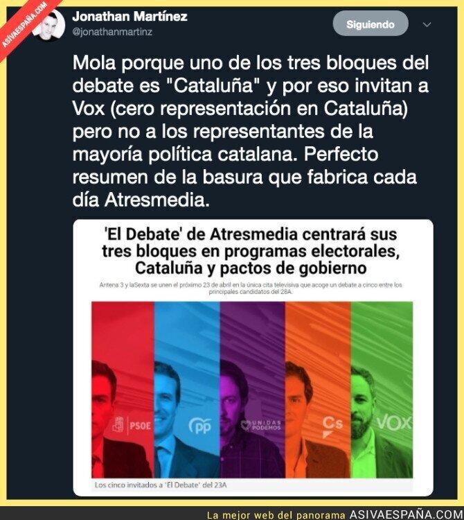 109542 - Debatir un tema en el que son minoría en Catalunya y sin los protagonistas