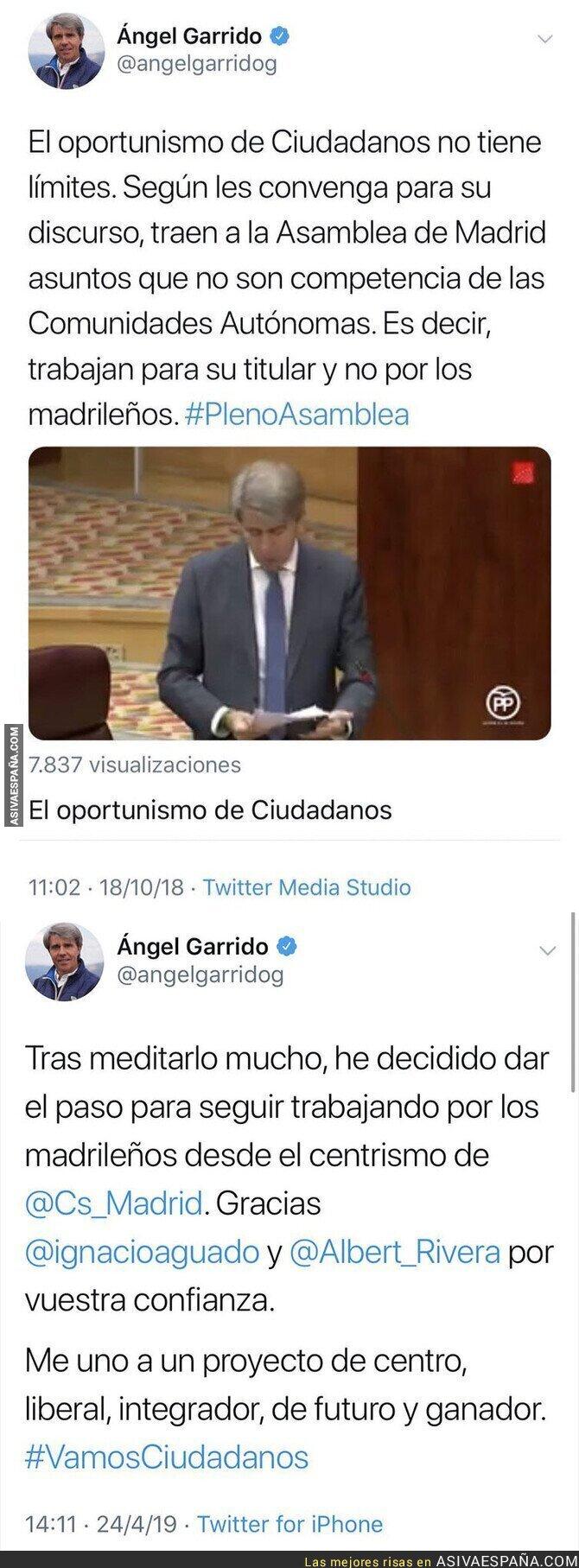 110391 - Así de retratado ha quedado Ángel Garrido tras fichar por Ciudadanos
