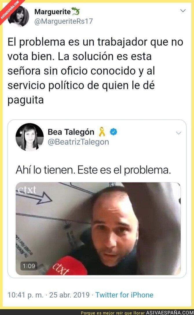 110485 - Zasca de una tuitera a Beatriz Talegón