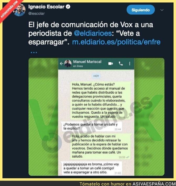 110528 - El trato de VOX a algunos periodistas