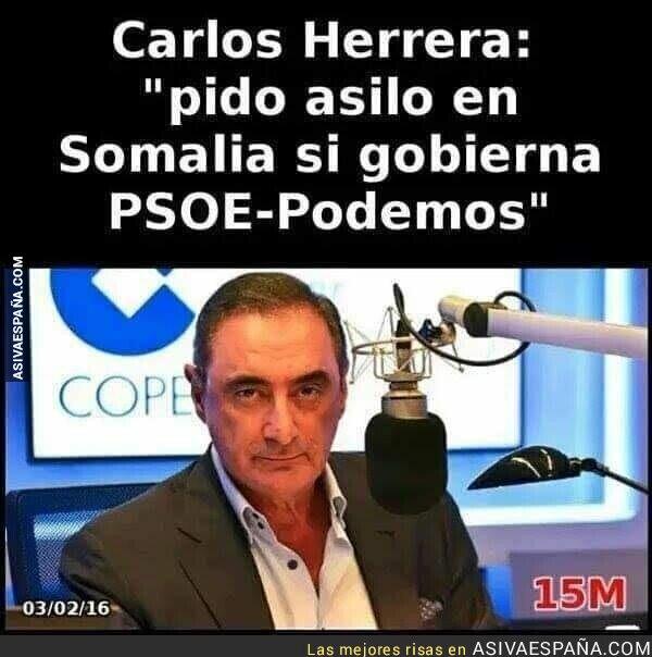 110965 - Que Carlos Herrera vaya buscando billete de avión