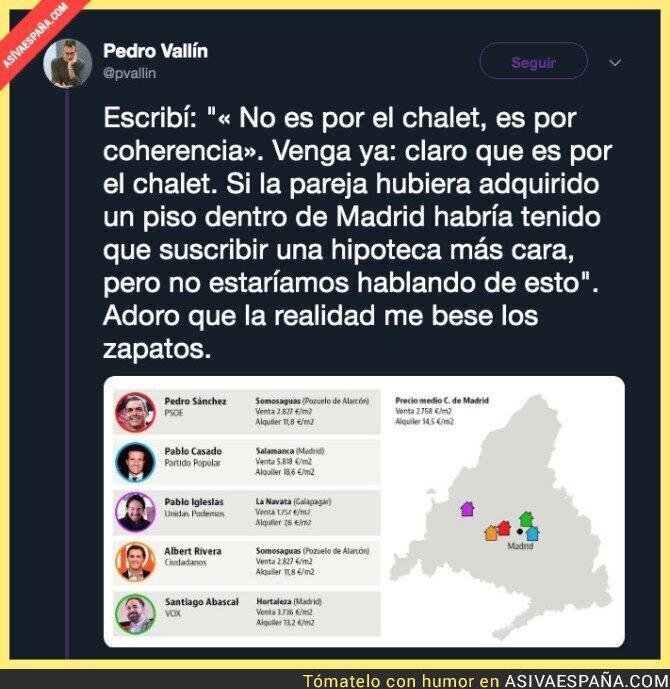 111087 - El precio de las viviendas de los principales líderes políticos en España