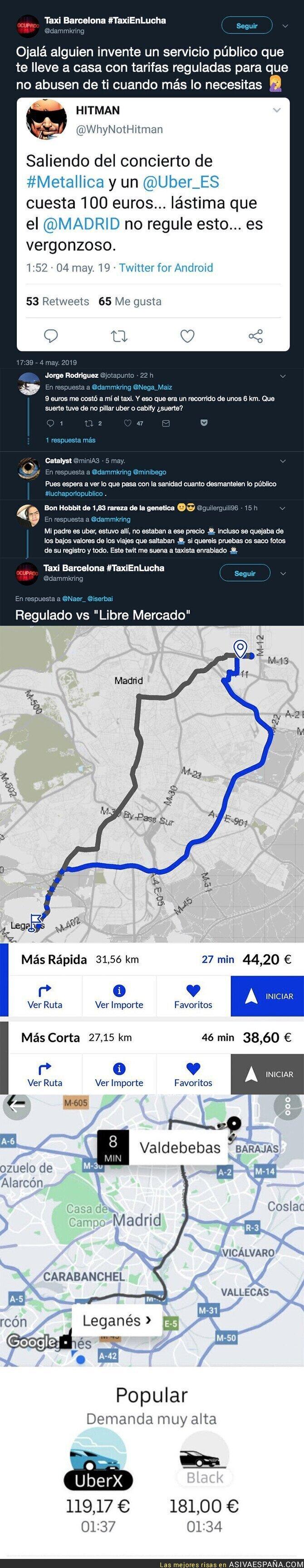 111324 - Este es el precio abusivo de Uber a sus clientes tras el concierto de Metallica en Madrid