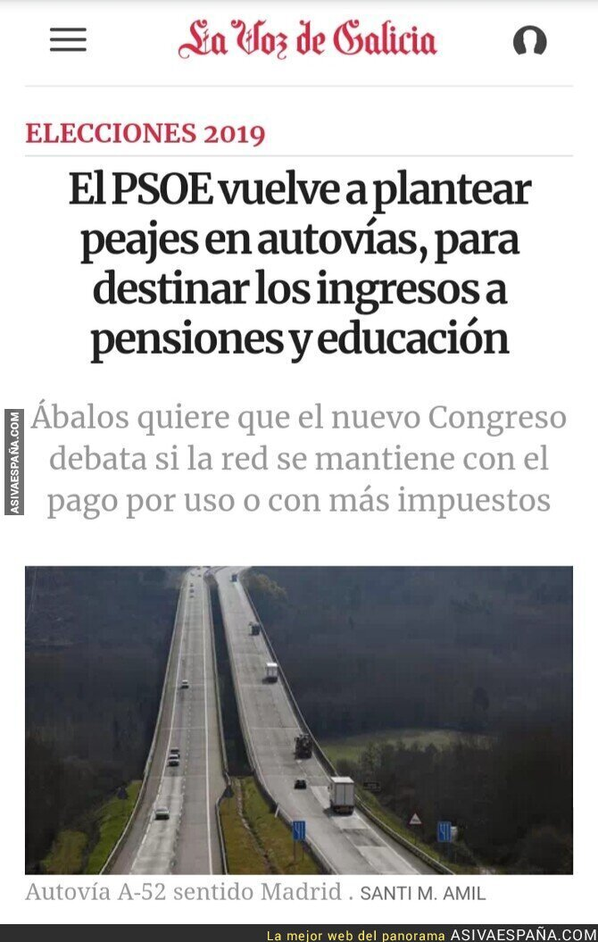 111372 - Disfrutad los votantes del PSOE que no sóis tan ricos como Quique Peinado
