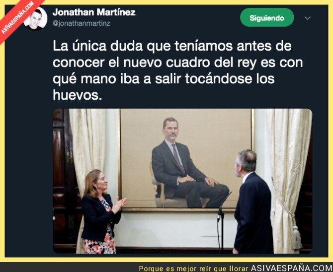 111387 - 88.000 euros ha costado la broma del cuadro del Rey Felipe VI