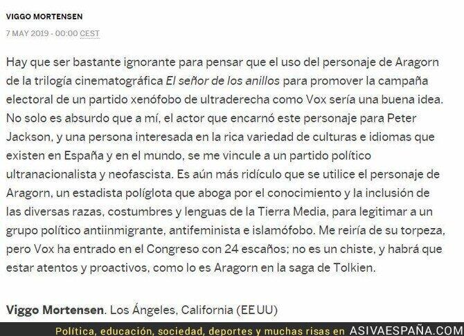 111402 - La opinión de Viggo Mortensen sobre VOX