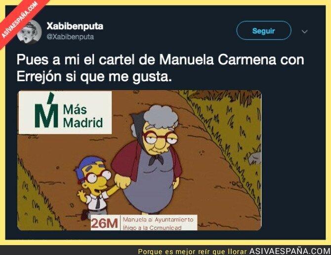 111541 - Es entrañable el cartel electoral de Más Madrid