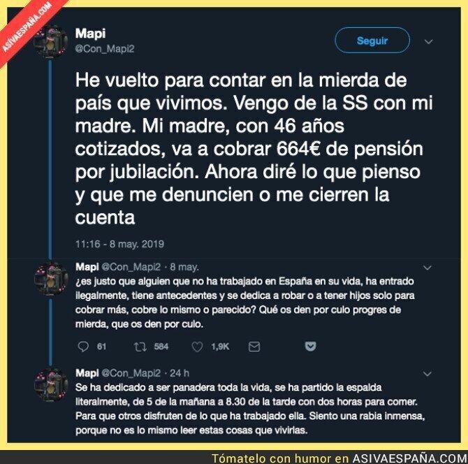 111584 - La miseria de pensión que se le queda a esta mujer tras trabajar 46 años