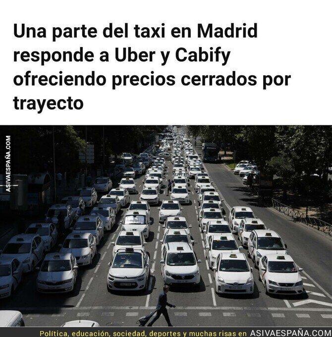 111719 - Los taxistas madrileños se rebelan y ofrecen precios cerrados para competir con Cabify y Uber