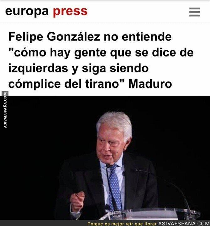 111834 - Felipe González sobre la gente de izquierdas y Maduro