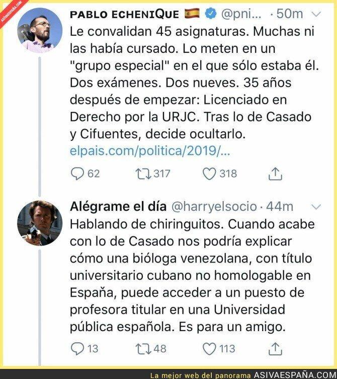 111861 - Pablo Echenique y Podemos no son los más indicados para dar lecciones sobre títulos universitarios