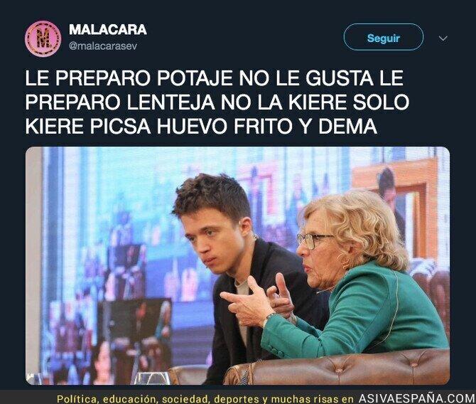 111934 - Manuela Carmena no puede más con Íñigo Errejón