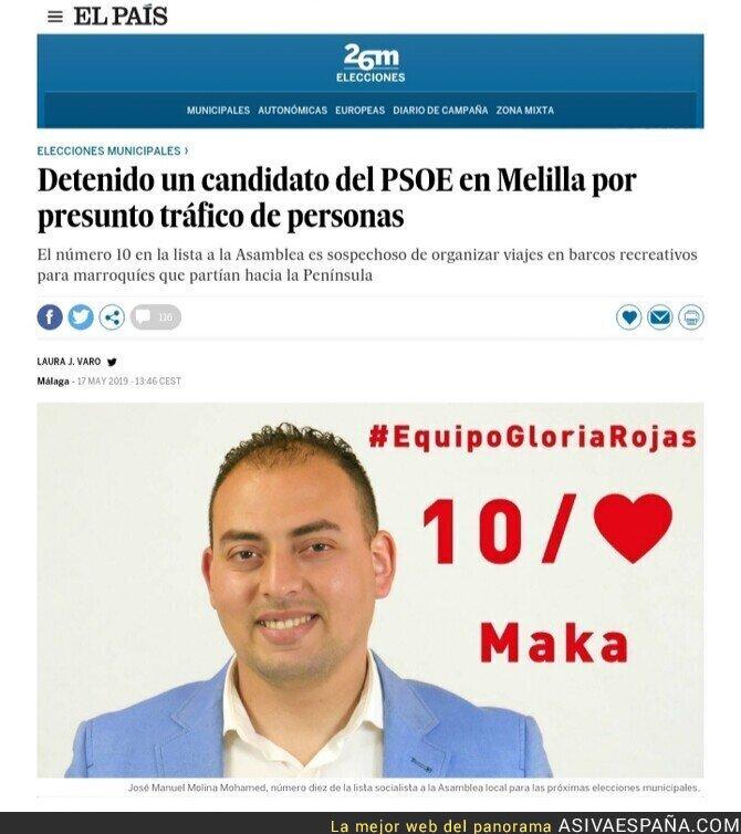 112279 - Detenido en Melilla un candidato del PSOE por tráfico de personas