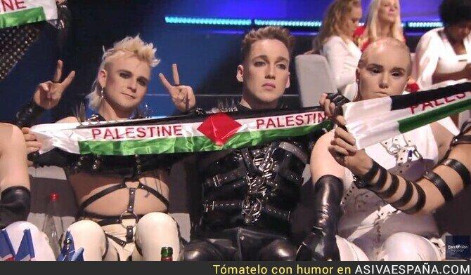 112303 - EUROVISIÓN: Islandia la lía sacando la bandera de Palestina frente a 200 millones de espectadores