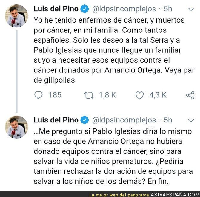 112396 - Luis del Pino comenta el populismo de Pablo Iglesias (Podemos)