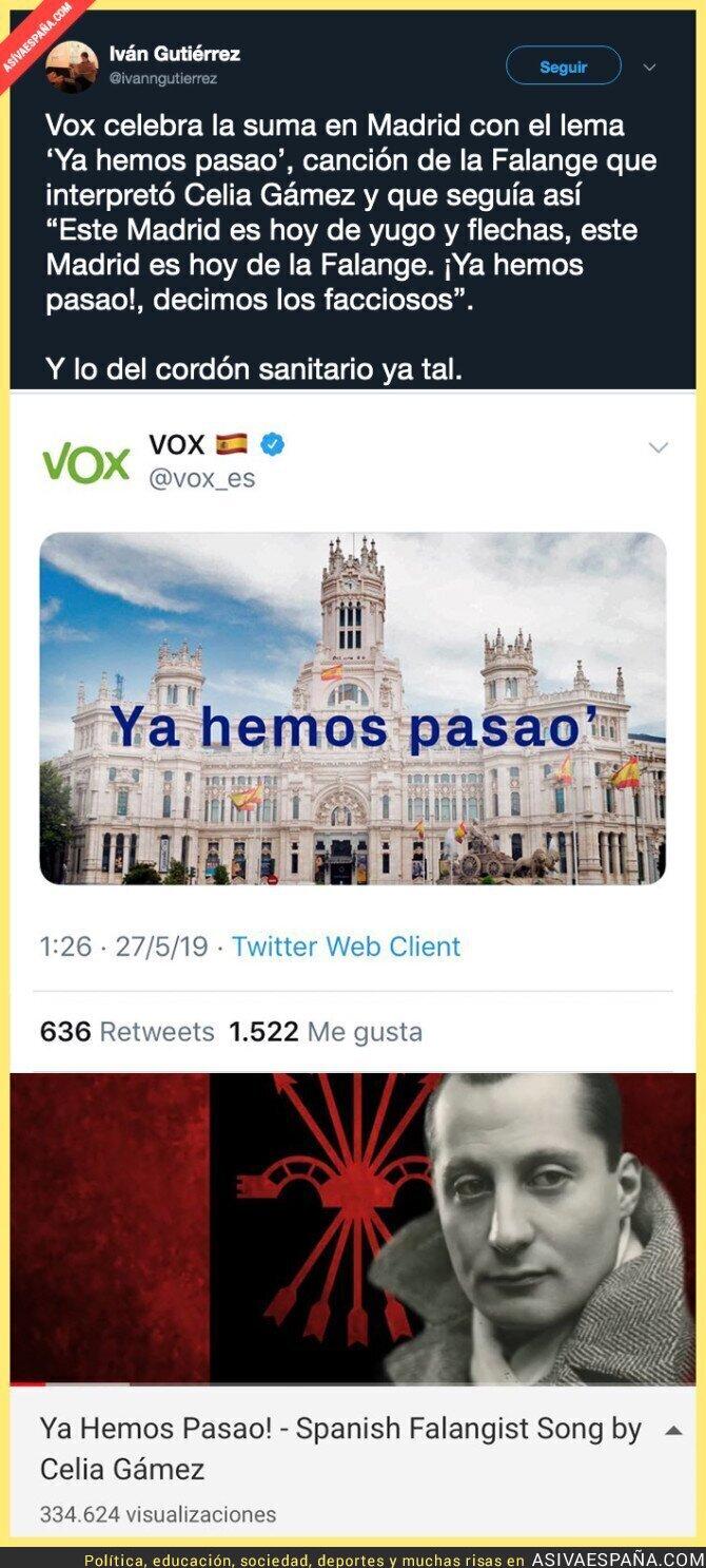 112978 - VOX muestra su fascismo tras ganar la derecha en el ayuntamiento de Madrid
