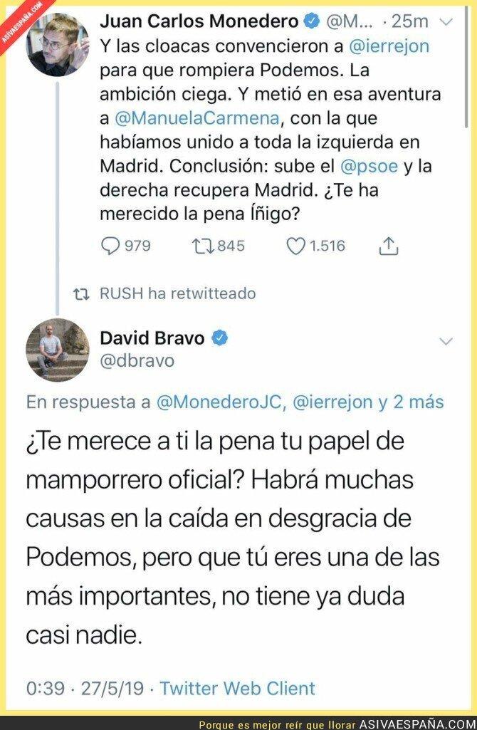 113045 - David Bravo pone en su sitio a Juan Carlos Monedero