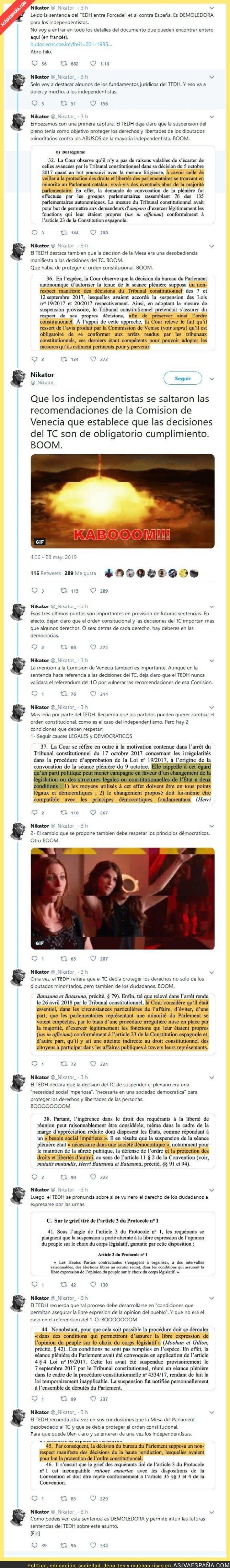 113176 - Resumen de la sentencia de Estrasbugo contra la mesa del Parlament