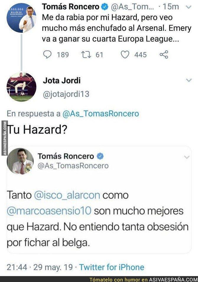 113339 - La poca memoria de Tomás Roncero con Hazard