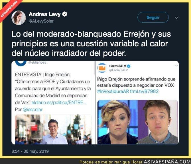 113348 - Andrea Levy atacando a Íñigo Errejón ante la posibilidad de pactar con VOX