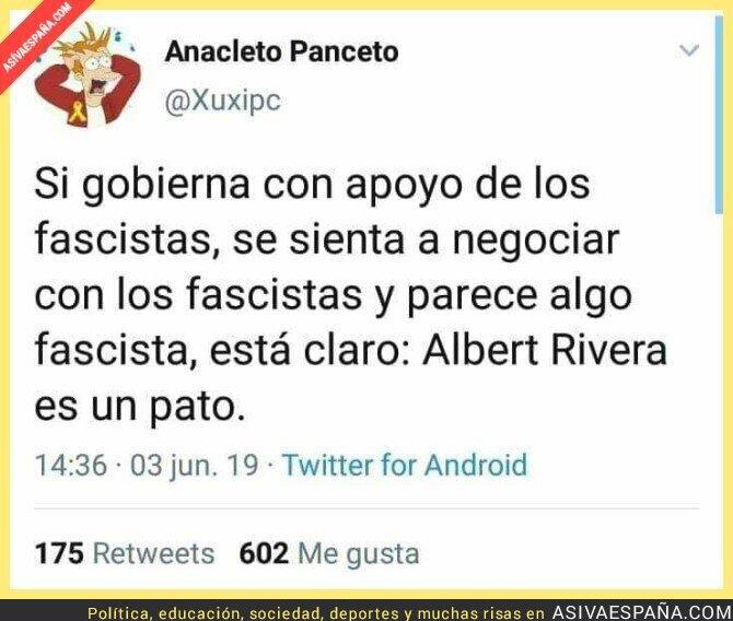 113684 - La conclusión de Albert Rivera al sentarse con los fascistas