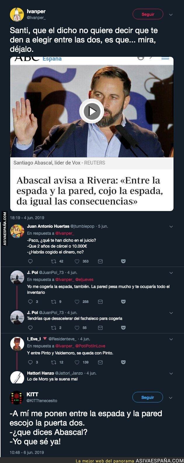 113790 - Santiago Abascal muy español pero conoce poco de los dichos populares
