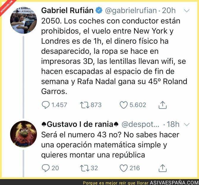 114044 - Las matemáticas le juegan una mala pasada a Gabriel Rufián
