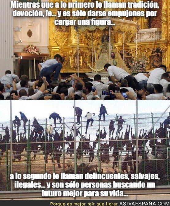 114067 - Saltar la reja por fanatismo religioso vs saltar la valla para tener un futuro mejor...