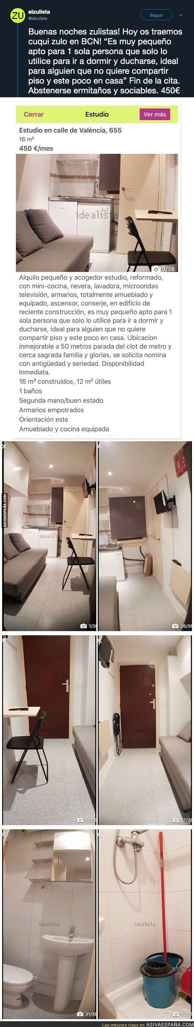114587 - El denunciable piso que alquilan en Barcelona de 12 metros cuadrados habitables
