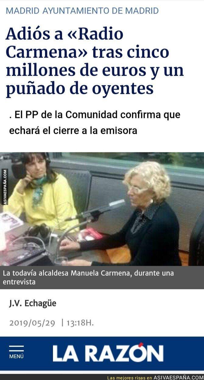 114597 - No te lo agradeceré jamás, Manuela Carmena, ¡jamás!