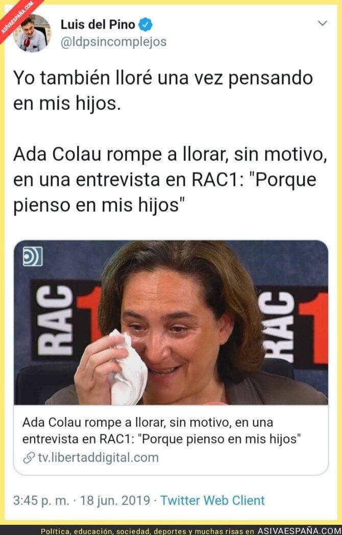 114613 - Ada Colau inventa llorar por los hijos