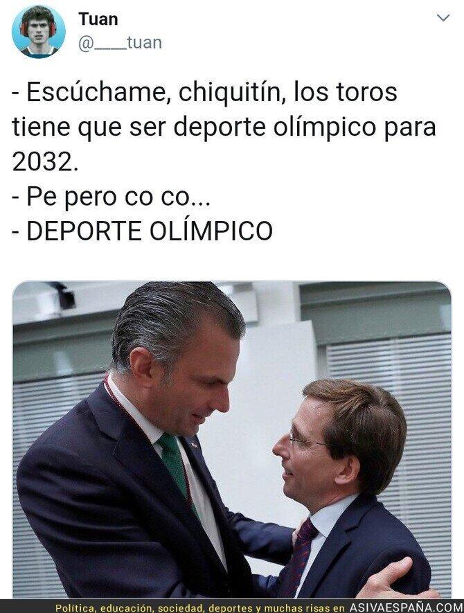 114708 - Se vienen los toros deporte olímpico en Madrid...